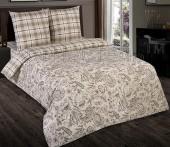 Постельное белье с простыней на резинке АртПостель ОДА поплин 2-спальное70х70 см