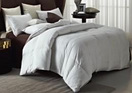 Одеяло Valtery гагачий пух 100% в сатине, теплое 1,5-спальное