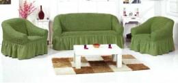 Чехлы для дивана 2-3-местн + кресла (2 шт) Karbeltex зеленый