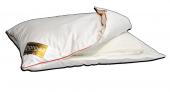 Подушка Dargez ОРЛАНДО комбинированная высокая, элитный белый пух Экстра, батист + Outlast + эргономическая вставка 70х70 см