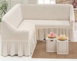 Чехлы для дивана 3-местн (1) + кресла (2) с оборкой Karteks НАТУРАЛЬН.