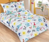 Детское постельное белье АртПостель ПЕРЕМЕНКА поплин 1,5-спальное 70х70 см