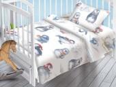 Детское постельное белье Valtery поплин бэби 40х60 см ПИНГВИНЯТА