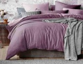 Постельное белье Mona Liza Actual сатин однотонный 1,5-спальный 50х70 см арт.5202/57 Пион (сливовый-роз)