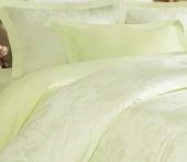 Постельное белье Mona Liza Royal ПИОН САЛАТОВЫЙ-03 жаккард 2-спальное 4 наволочки