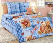 Детское постельное белье Svit бязь ГОСТ 1,5-спальное 70х70 см ПЛЮШЕВЫЕ МИШКИ