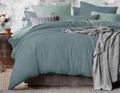 Постельное белье Mona Liza Actual сатин однотонный 2-спальный 50х70 см арт.5204/53 Полынь (арктический-мята)