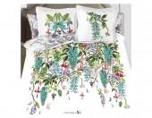 Постельное белье Mona Liza SL Secret Gardens сатин панно 2-спальный 4 наволочки арт.Jade 5658/6