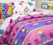 Детское постельное белье Mona Liza бязь 1,5-спальное 70х70+50х70 см ПРИНЦЕССЫ