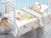 Детское постельное белье Valtery поплин бэби 40х60 см ПТИЧКА