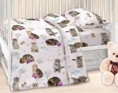Детское постельное белье Valtery поплин бэби 40х60 см ПУШИСТИКИ