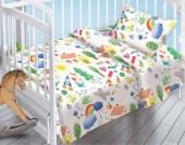 Детское постельное белье Valtery поплин бэби 40х60 см РАДУГА