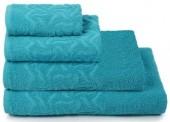Полотенце махровое Cleanelly Радуга хлопок 50х90 см цв.Бирюзовый
