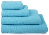 Полотенце махровое Cleanelly Радуга хлопок 100х150 см цв.Голубой