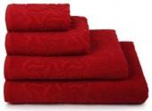 Полотенце махровое Cleanelly Радуга хлопок 50х90 см цв.Красный