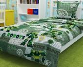 Детское постельное белье Svit бязь ГОСТ 1,5-спальное 70х70 см РОБОТЫ ЗЕЛ.