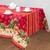 Скатерть АртПостель Рогожка 100% хлопок 180х145 см Рождество