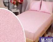 Простыня на резинке Мерцана махровая 120х200х20 см Розовый