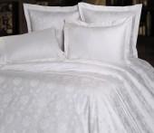 Постельное белье Mona Liza Royal РОЗА БЕЛЫЙ-05 жаккард 1,5-спальный 70х70 см
