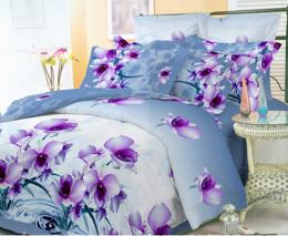 Постельное белье Орхидея Бамбук полисатин 1,5-спальное 70х70 см арт. РТ076