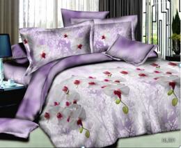 Постельное белье Орхидея Бамбук полисатин 1,5-спальное 70х70 см арт. РТ0201
