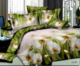 Постельное белье Орхидея Бамбук полисатин 1,5-спальное 70х70 см арт. РТ0291