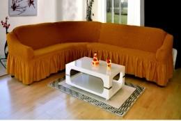 Чехол для углового 3-местн. дивана DO&CO рыже-коричневый