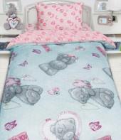 Детское постельное белье Mona Liza бязь 1,5-спальное 50х70 см Teddy С ПОДАРКОМ БИРЮЗОВЫЙ