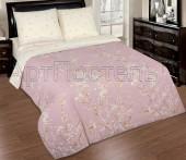 Постельное белье с простыней на резинке АртПостель САКУРА поплин 1,5-спальное 70х70 см