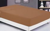 Простыня на резинке Valtery сатин 200х220х20 см арт. 04 шоколад