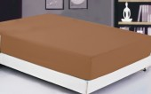Простыня на резинке Valtery сатин 90х200х20 см арт. 04 шоколад