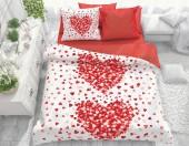 Постельное белье Svit бязь ГОСТ 2-спальное макси 70х70 см арт.Сердца красный 79