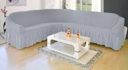 Чехол для углового дивана Karbeltex серый