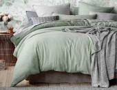 Постельное белье Mona Liza Actual сатин однотонный 2-спальный 50х70 см арт.5204/50 Шалфей (сер-фисташка)