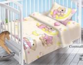 Детское постельное белье Valtery поплин бэби 40х60 см СОННЫЙ МИШКА
