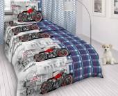 Детское постельное белье Svit бязь ГОСТ 1,5-спальное 70х70 см СПОРТБАЙК