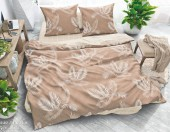 Постельное белье Svit New Line бязь ГОСТ 1,5-спальное 70х70 см арт.Стильные листья кофе