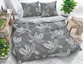 Постельное белье Svit New Line бязь ГОСТ 1,5-спальное 70х70 см арт.025-13 Стильные листья черный