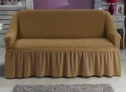 Чехлы для дивана 2-3-местн (1 шт) + кресла (2 шт) Karbeltex темно-бежевый