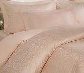 Постельное белье Mona Liza Royal ВОЛНА КРЕМОВЫЙ-10 жаккард 2-спальное 4 наволочки