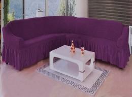 Чехол для углового дивана Karbeltex фиолетовый