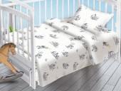 Детское постельное белье Valtery поплин бэби 40х60 см ЗАЙКИ