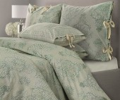 Постельное белье Mona Liza SL Chalet сатин 1,5-спальный 70х70 см арт.Зеленая олива