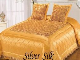 Покрывало TAС SILVER SILK Золотой шелк 240х260 + 45х45 (2)