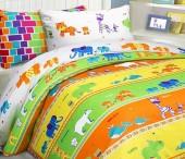 Детское постельное белье Mona Liza бязь 1,5-спальное 70х70+50х70 см ЗООПАРК