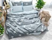 Постельное белье Svit New Line бязь ГОСТ 1,5-спальное 70х70 см арт.Звездный сон серый